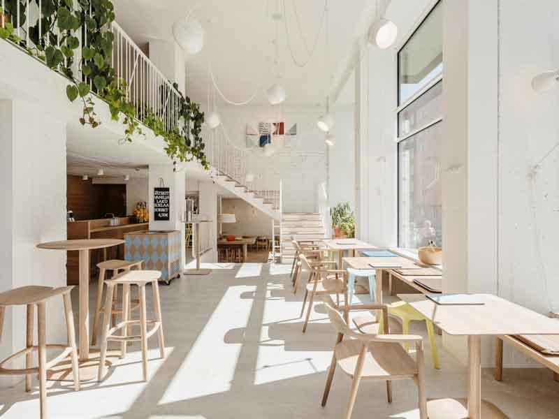 Phong cách thiết kế quán cà phê