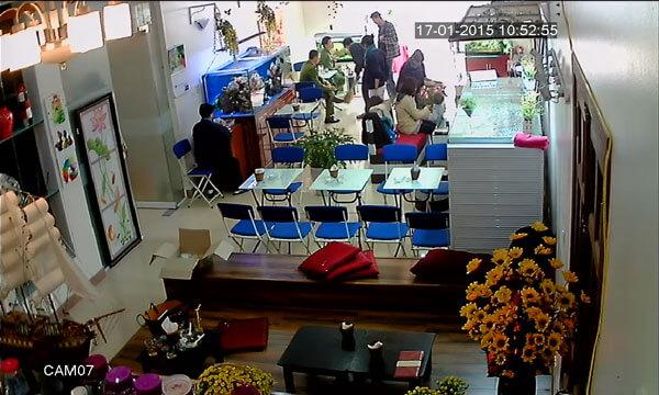 camera cho quán cà phê diện tích dưới 50m2