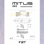 Loa kèm công suất MITUS 218SA- Loa FBT chính hãng