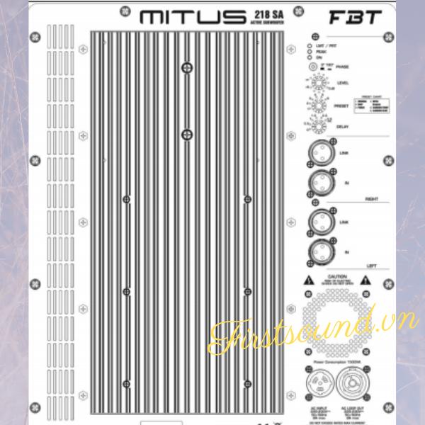 Loa FBT MITUS 218SA- Loa FBT chính hãng