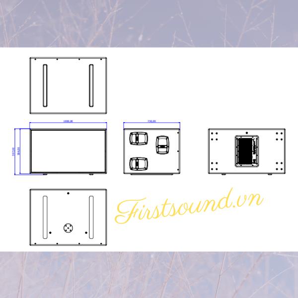 Bản vẽ thiết kế của loa FBT MITUS 218SA