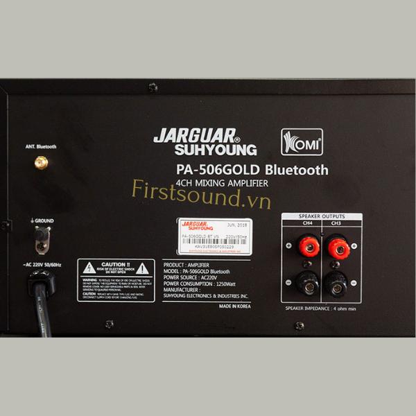 Mặt sau của amply Jarguar Suhyoung PA 506 Gold Bluetooth