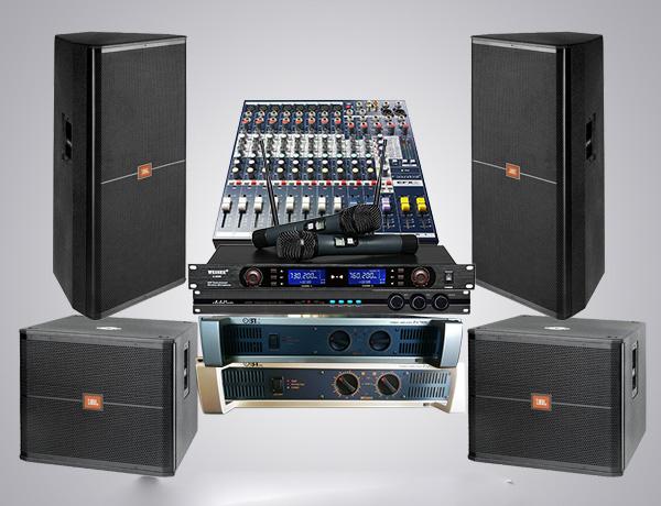 Dàn âm thanh đầy đủ các thiết bị sẽ tạo nên chất lượng âm chuyên nghiệp