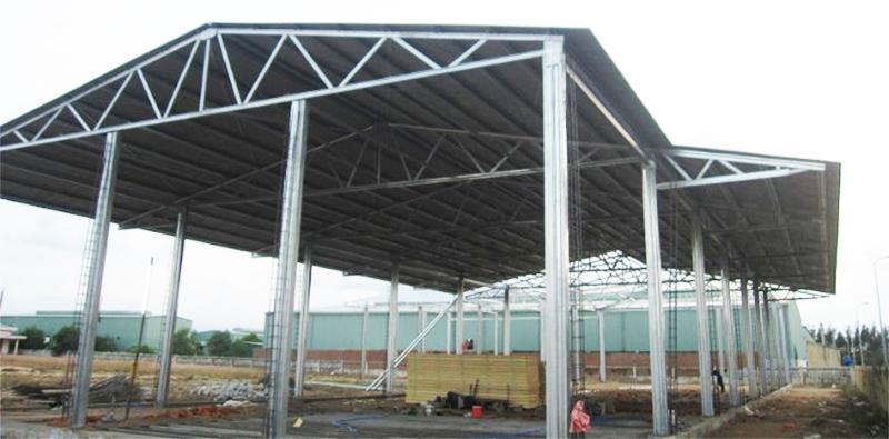 Nhà xưởng khung thép mái tôn