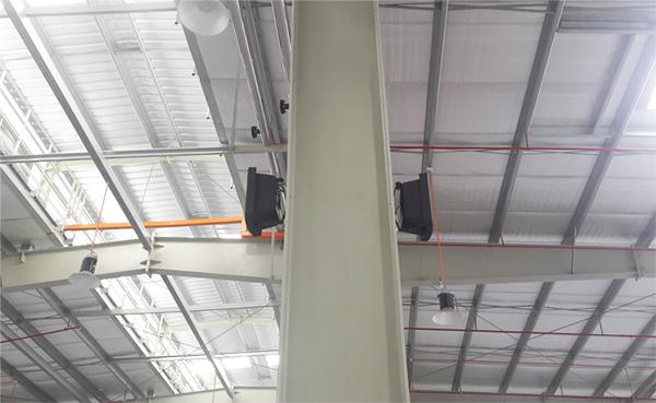 Tùy vào diện tích nhà xưởng mà chọn loại loa nào lắp đặt nhà xưởng cho phù hợp