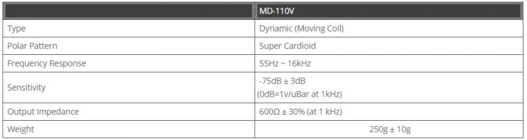 Micro Inter-M chính hãng MD-110V