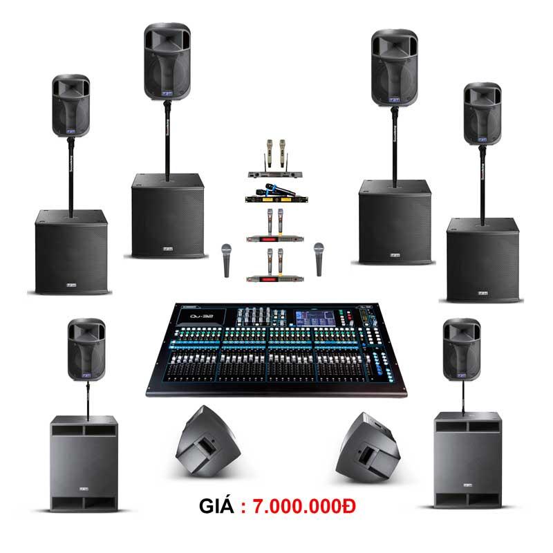 gói thiết bị âm thanh cho thuê sự kiện từ 300-400 khách