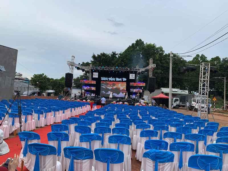 Cho thuê âm thanh ánh sáng sân khấu Firstsound tại Lễ hội Bừng Sáng Bom Bo (Mở bán đất nền Bom bo Bình Phước-27.05.2020)
