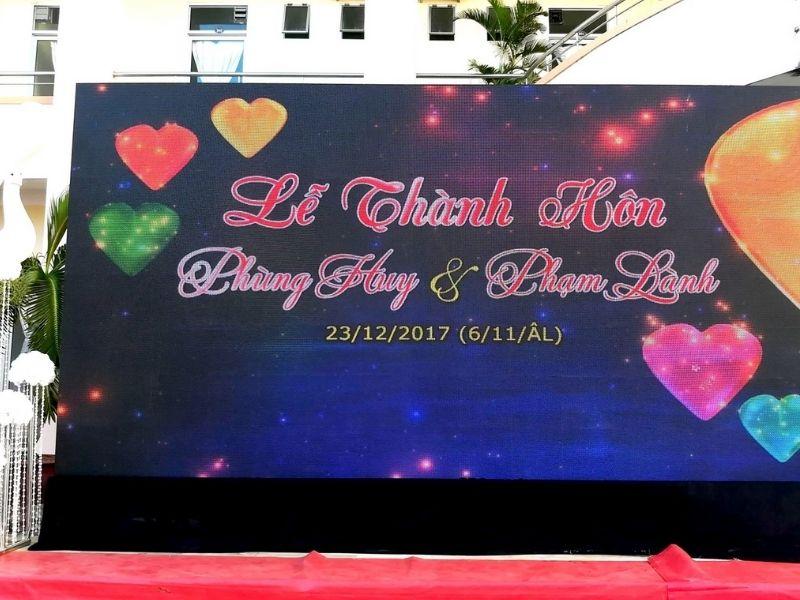 Firstsound cho thuê màn hình led đám cưới tại Đồng Nai