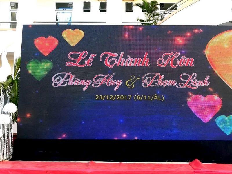 Firstsound cho thuê màn hình led đám cưới ở Đồng Nai