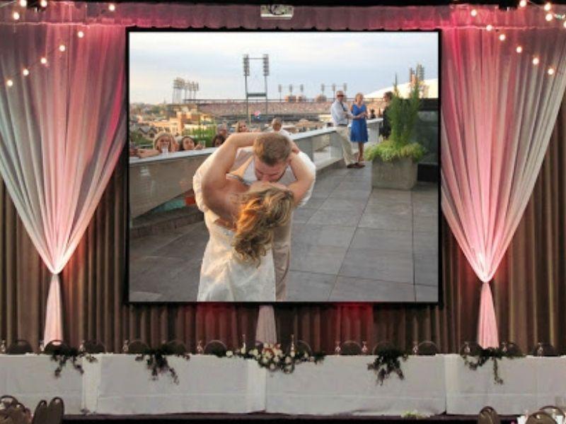 Màn hình led P4 cho tiệc cưới