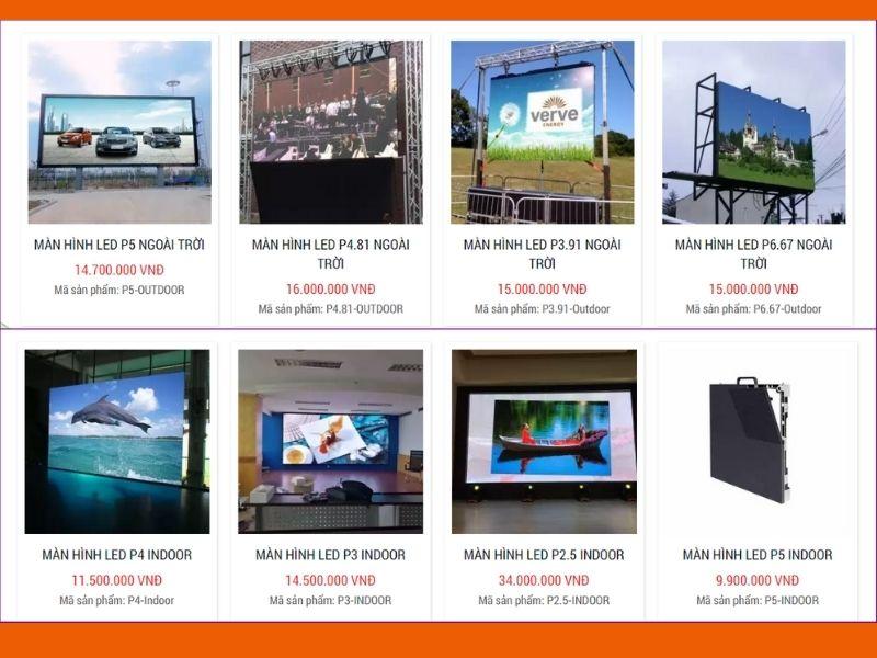 Bảng giá bán màn hình led cho nhà hàng tiệc cưới, hội nghị
