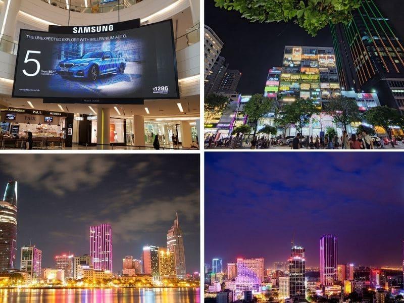 Màn hình led tòa nhà cao tầng - Màn hình led quảng cáo và trang trí
