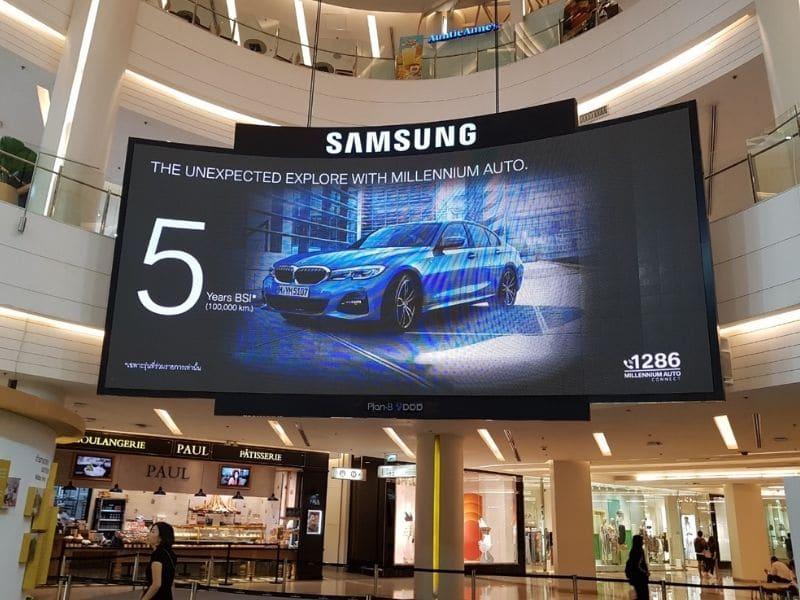 Màn hình led quảng cáo trong các trung tâm thương mại