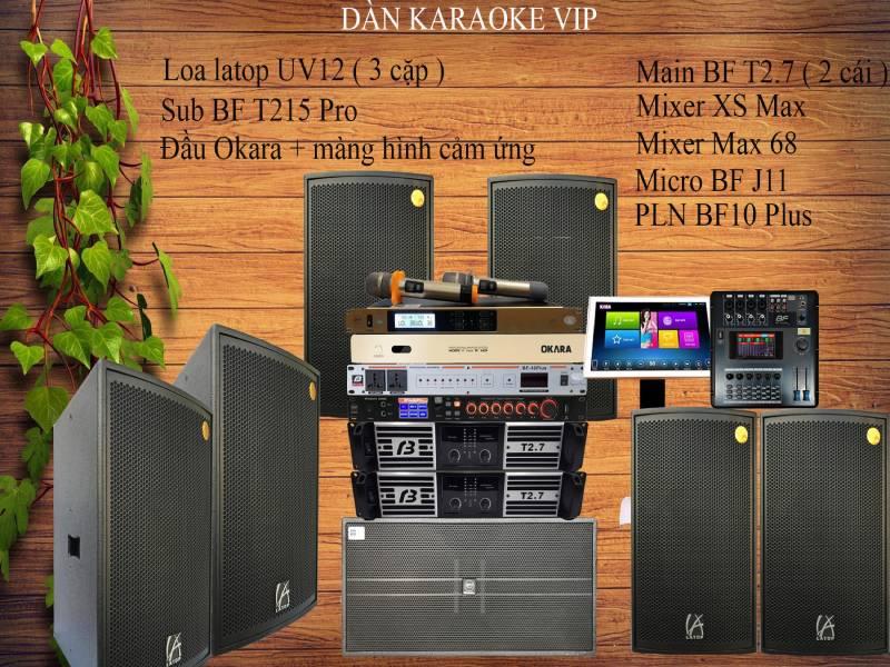 Dàn âm thanh phòng karaoke phòng vip