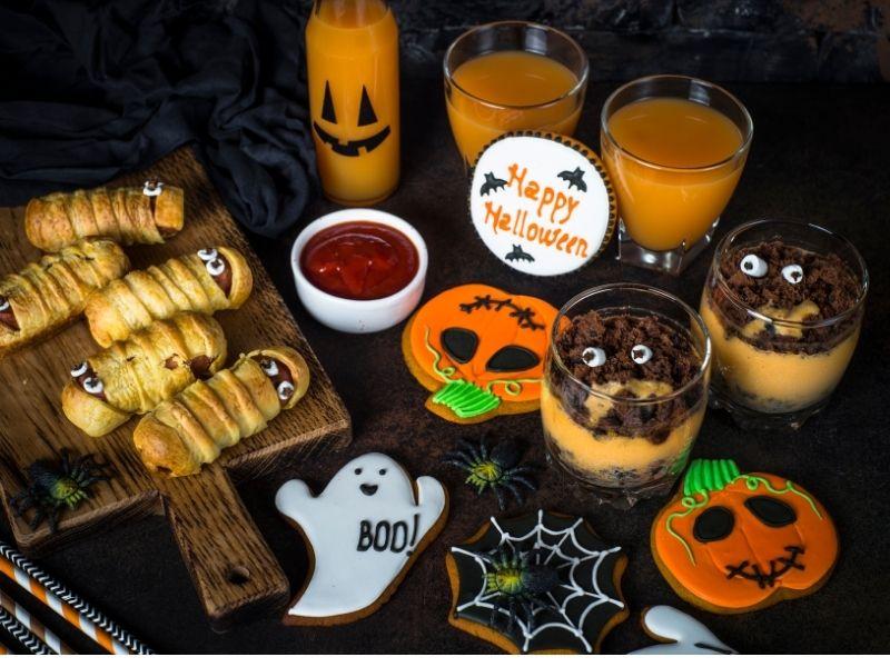 Thức ăn chuẩn bị cho halloween