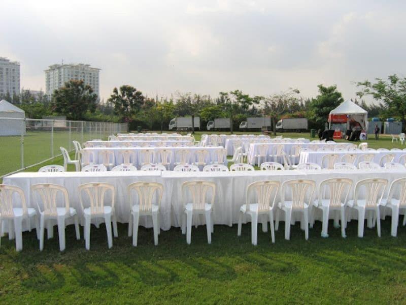 Thuê bàn ghế nhựa cho sự kiện