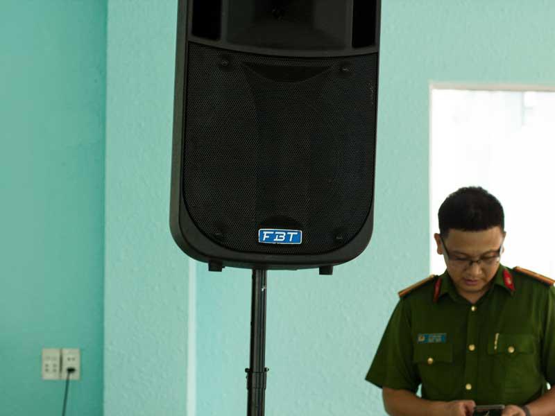 Cho thuê âm thanh tiệc gặp mặt trường phòng cháy chữa cháy HCM-8