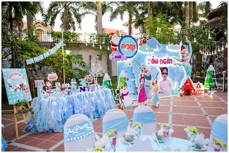 Đơn vị được thuê tổ chức tiệc sinh nhật cho bé sẽ làm những gì?