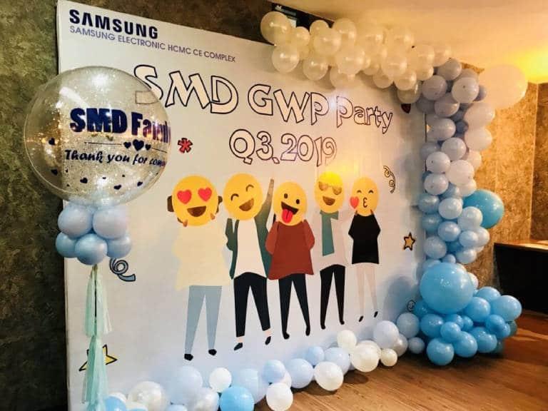 Trang trí tiệc sinh nhật công ty