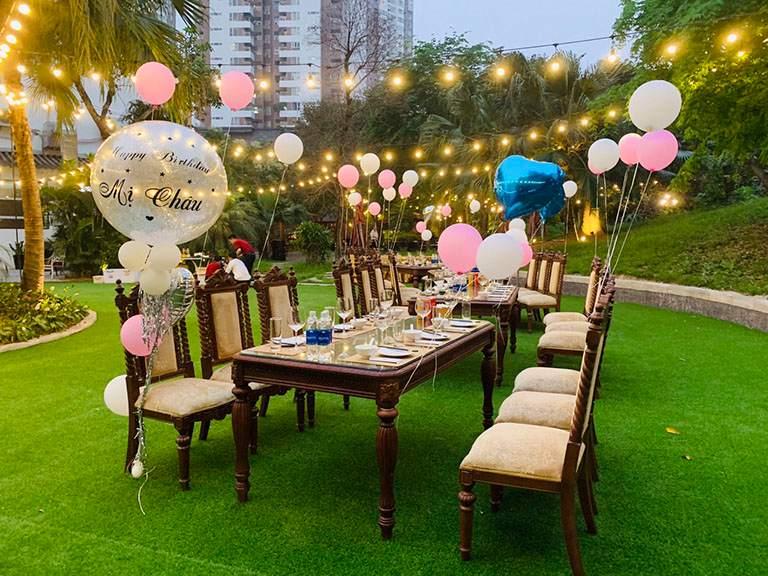 Các ý tưởng trang trí tiệc sinh nhật ngoài trời có thể tham khảo